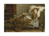 A Young Lady Reading in an Interior