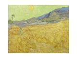 Wheat Fields with Reaper, Auvers Giclée par Vincent Van Gogh