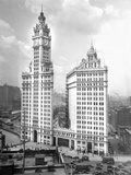 Wrigley Building on Michigan Avenue in Chicago  Ca 1928