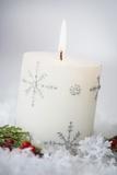 Festive Christmas Candle