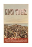 New York Go by Train  Pennsylvania Railroad Travel Poster