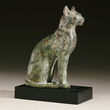 An Egyptian Bronze Figure of a Cat