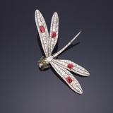 A Fine Gem-Set Dragonfly Brooch