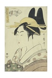 An Okubi-E Portrait of a Courtesan Representing the Hagi or Noji River