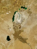 Low Earth Orbit View of the Aral Sea