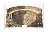 Engraving of the Colosseum in Rome