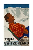 Winter in Switzerland Travel Poster