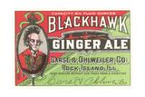 Blackhawk Ginger Ale Label