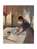 Femme repassant Giclée par Edgar Degas