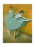 Dancers at the Barre Giclée par Edgar Degas