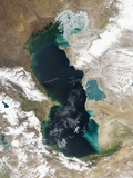 Ice Covering Northern Portion of the Caspian Sea