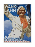 Wank Bahn  German Ski Travel Poster