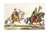 Print of Roman Cavalry on Horseback