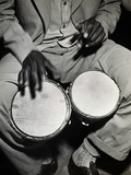 Man Playing the Bongo Drums