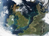 Islands of Ireland and Great Britain in Northern Europe