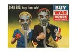 War Bonds Poster  Children in Gas Masks