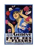 Geneve  Fete Des Fleurs Poster