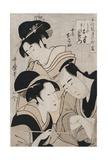 A Triple Portrait of Ohan of the Shinanoya  Choemon and His Wife Okinu