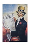 1920s American Banking Poster  Uncle Sam Deposits Show Huge Gains