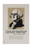 1920s American Banking Poster  George Washington