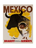 Braniff Airways Travel Poster Mexico