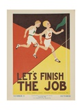 1938 Character Culture Citizenship Guide Poster  Let's Finish the Job