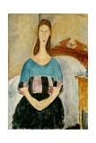 Portrait of Jeanne Hebuterne  Seated