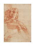 Seated Young Male Nude and Two Arm Studies (Recto)