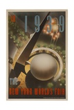 1939 New York World's Fair Poster  the World of Tomorrow  Aerial