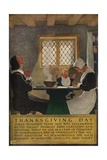 1920s American Banking Poster  Thanksgiving Day