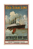 Red Star Line  Antwerpen-New York Poster