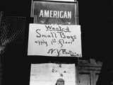 Boy Wanted Sign in New York