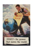 1920s American Banking Poster  Money  the Power That Moves the World