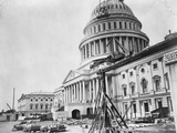 U S Capitol under Construction