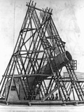 "Eighteenth Century Engraving ""View of Herschell's Forty Feet Telescope"""