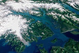 Glaciers Melting into Glacier Bay