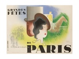 Grandes Fetes De Paris  1934 French Travel and Tourism Poster