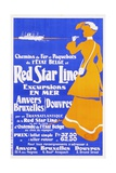 Red Star Line Poster