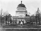 U S Capitol with Unfinished Dome