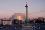 Colonne De Juillet and Opera De La Bastille at Twilight