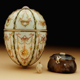 Faberge Kelch Bonbonniere Egg Pictured with its Surprises