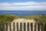 Fence and Sand Dunes on Coast