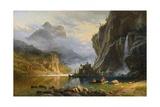 Indians Spearfishing Giclée par Albert Bierstadt