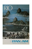 Pan Am Travel Poster  Rio Experience Makes the Difference