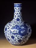 A Magnificent Blue and White Massive 'Dragon' Bottle Vase