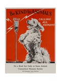 Be Kind to Animals  Calling All Humans  Humane Society Poster