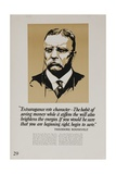 1920s American Banking Poster  Extravagence Rots Character  Teddy Roosevelt