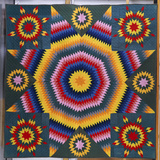 A Mennonite Pieced and Appliqued Cotton Quilted Coverlet