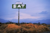 Diner Sign in Mojave Desert