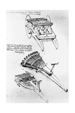 Drawings of Multi-Barreled Guns